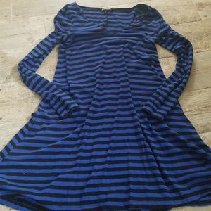 Express striped skater dress